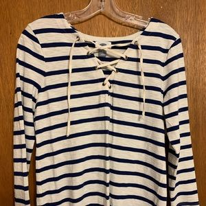 Women.'s Old Navy Striped Long Sleeve Top Small
